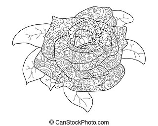 Rose Flower Zentangle Scalable Vectorial Image Representing A Rose
