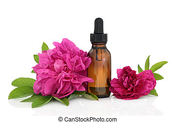 Rose Flower Essence - Rose flowers with aromatherapy...