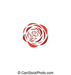 rose flower logo vector illustration stylized icon design