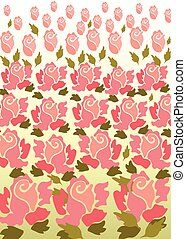 Rose flower pattern background.