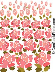 Rose flower pattern background
