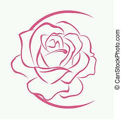 Rose Flower Symbol