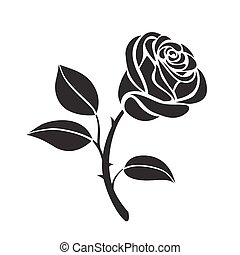 Rose flower vector icon