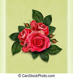 Rose flowers for holiday card
