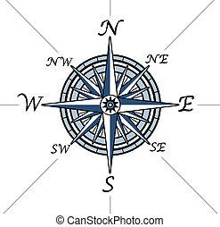 rose, fond blanc, compas