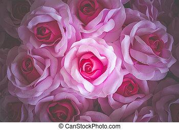 rose, fond, pour, jour valentine