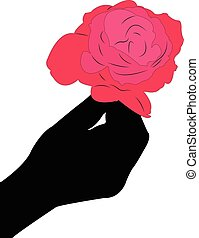 Rose for you, invitation card