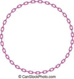 rose, forme, cercle, chaîne