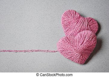 rose, forme coeur