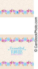 Rose frame invitation card.