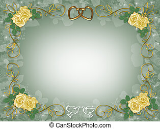 rose gialle, invito matrimonio