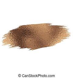 brush stroke - Rose gold foil brush stroke. Vector...