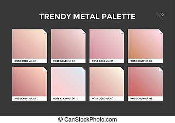 Rose gold gradient template, vector icon - Rose gold...