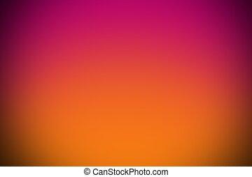 rose, gradient, résumé, courbe, vignette, fond, orange