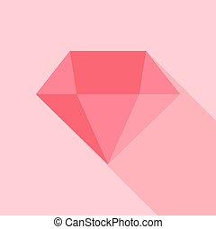 rose, grand, diamant
