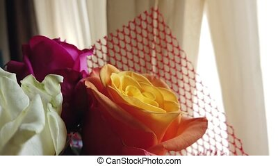rose., grand plan, roses, orange, bouquet