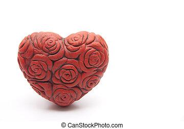 Rose heart from ceramics