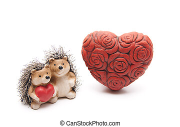 Rose heart of stone   - Rose heart of stone with hedgehogs