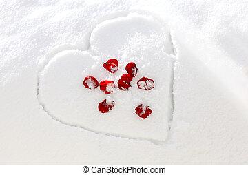 Rose Heart Snow
