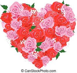 Rose heart - Valentine rose heart shape