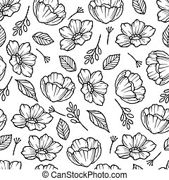 Rose hip with leaf pattern, outline style - Rose hip with ...
