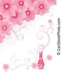 rose, image, vecteur, parfum