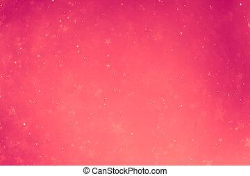 rose, incandescent, étoiles, fond