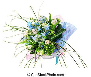 rose, iris, bouquet fleur, flowers., autre, roses