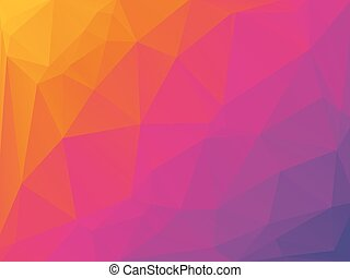 rose, jaune, triangulaire, fond