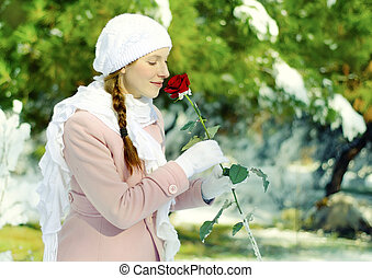 rose, kvinde