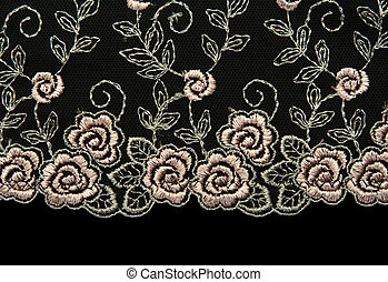 Rose lace with pattern in the manner of flower