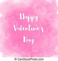 rose, lettrage, valentin, aquarelle,  s, fond, jour, heureux