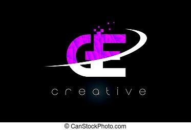 rose, lettres, g, ge, créatif, couleurs, conception, e, ...