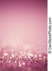 rose, lights., résumé, twinkled, clair, bokeh, defocused, fond