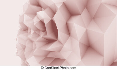 Rose low poly edgy sphere background for modern reports and...