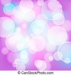 rose, lumière, résumé, effets, fond