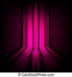 rose, lumière, résumé, lignes, fond