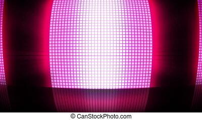 rose, lumières, disco