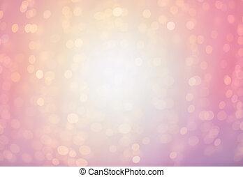 rose, lumières, fond, brouillé