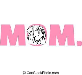 rose, mastiff, maman