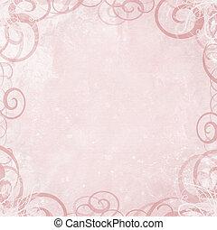 rose, mesquin, fantaisie, fond, tourbillon, frontière