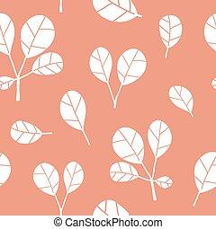 rose, modèle, feuilles, seamless