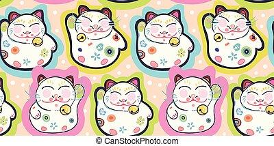 rose, modèle, heureux, dot., chat