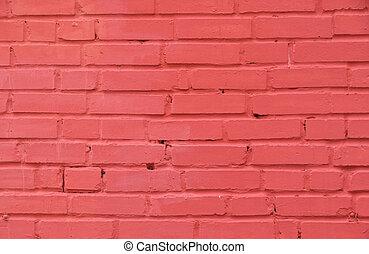 rose, mur peint brique, fond