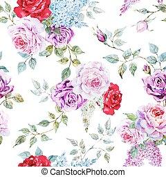 rose, nett, muster