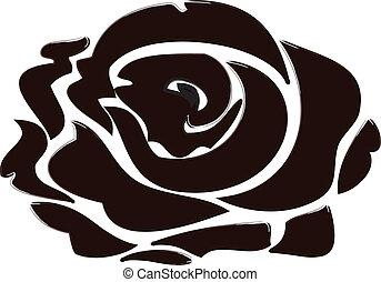 rose, noir