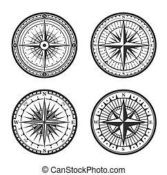 Rose of winds nautical compass navigator - Old navigation...