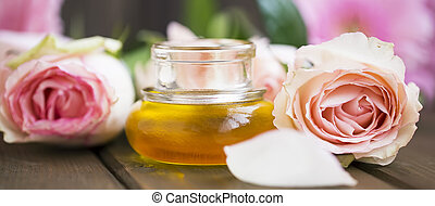 Rose oil for aromatherapy and spa