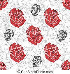 rose on a beautiful background vector illustration