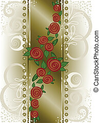 rose on a broad vertical strip